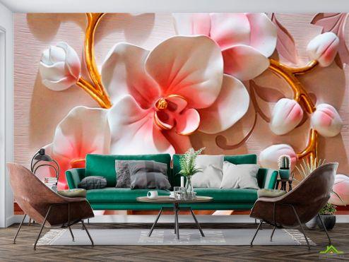 в стиле барокко Фотообои Керамические орхидеи купить
