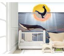 Фотообои Киты для детской