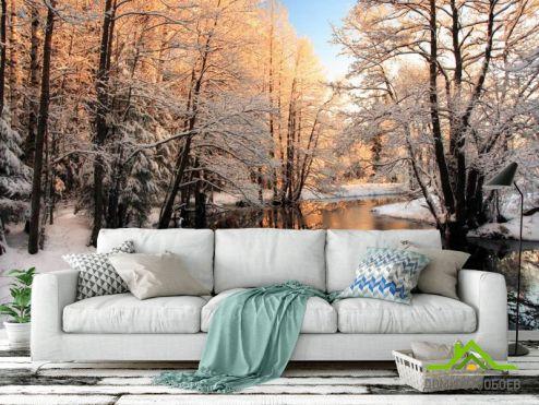 обои Зима Фотообои Зима, снег
