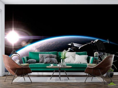 Космос Фотообои Спутник и планеты