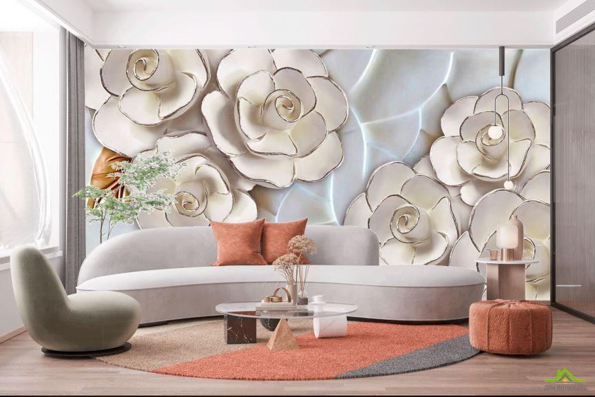 Фотообои Фарфоровые белые цветы