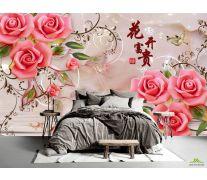Фотообои 3д розы и шары