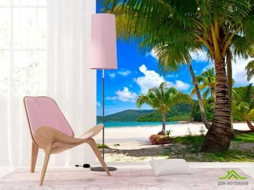 обои Пляж Фотообои Пальмы в тени