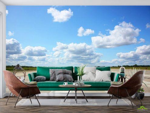 Фотообои Природа по выгодной цене Фотообои небо над взлетной полосой