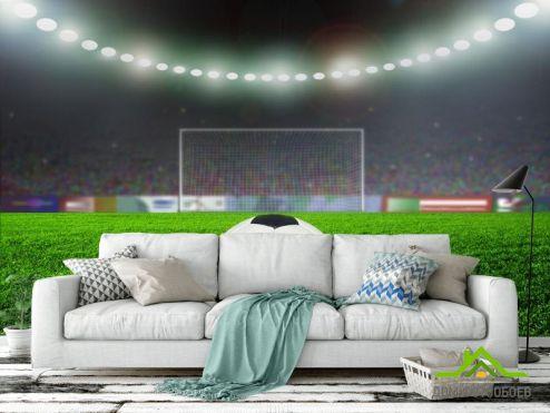 Фотообои Спорт по выгодной цене Фотообои мяч на стадионе