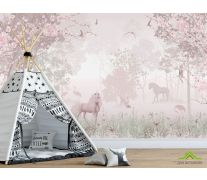 Фотообои Розовые единороги