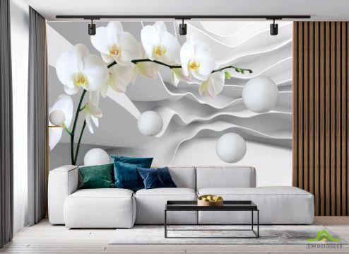 в гостиную Фотообои Орхидея 3д