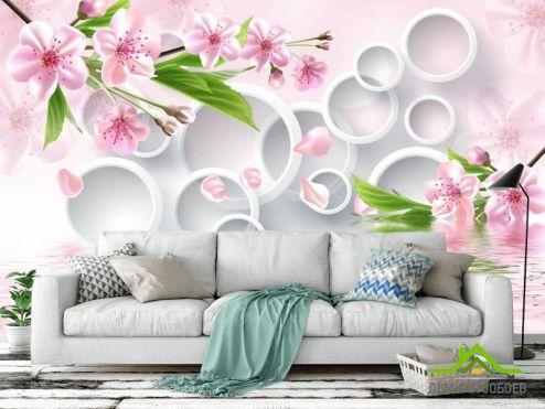 3Д  Фотообои Цветы