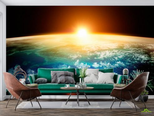 Космос Фотообои Земля и солнце