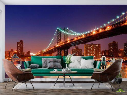 Нью Йорк Фотообои Зачарованный  мост New York