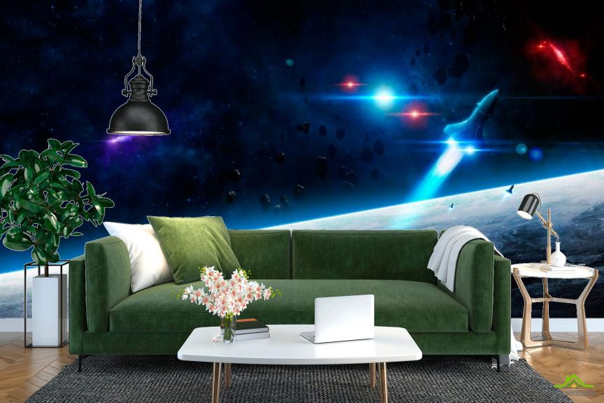 Фотообои Шатл и астероиды