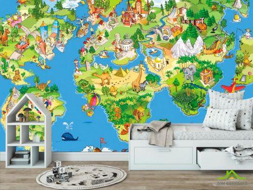 обои в детскую Фотообои Карта сказочного мира