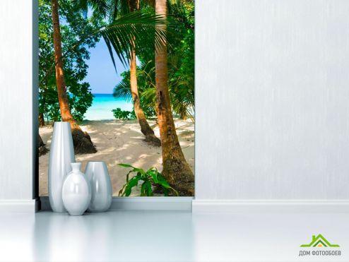 обои Пляж Фотообои Роща пальм на пляже