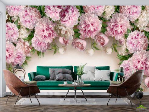 Цветы Фотообои Розовые пионы купить