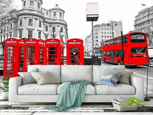 Город Фотообои Городской автобус, Лондон