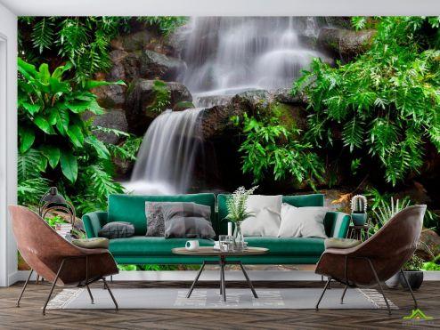 Природа Фотообои Камни, вода, зелень