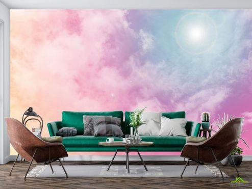по выгодной цене Фотообои солнечное розовое небо