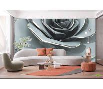 Фотообои Цветок барельеф