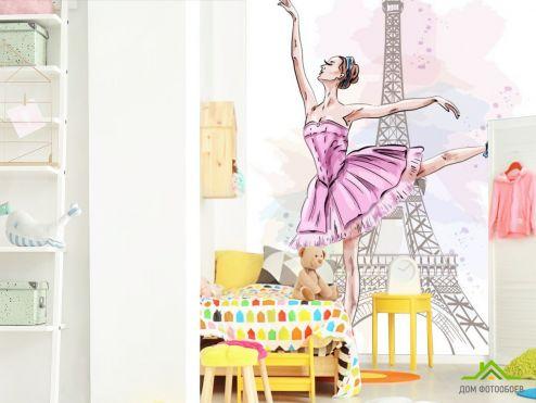 в детскую Фотообои Балерина для детской