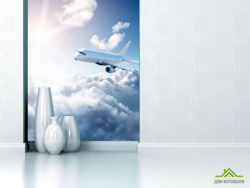 обои Транспорт Фотообои Самолет в небе