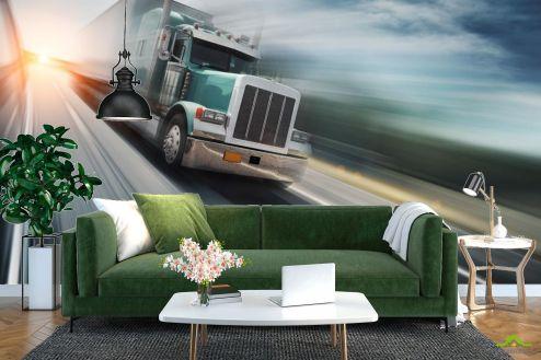 Транспорт Фотообои грузовик в движении