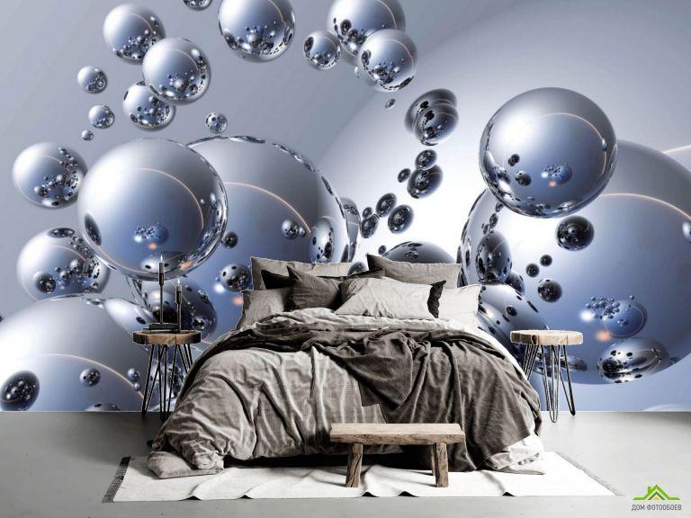 Фотообои Металлические шары 3д
