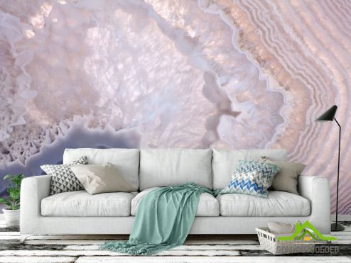 Каменная стена Фотообои Текстура розового кварца