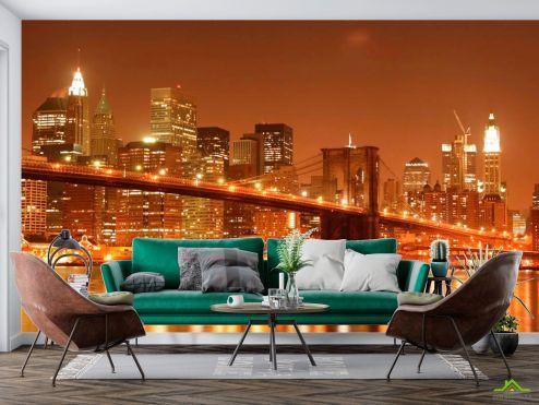 Архитектура Фотообои Зачарованный  Бруклинский мост