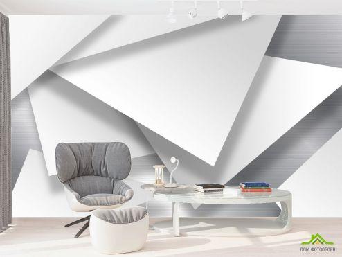 в офис Фотообои 3д треугольники