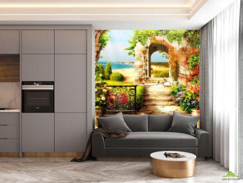 Фотообои на кухню по выгодной цене Фотообои в кухню Арка