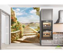 Фотообои в кухню Лестница