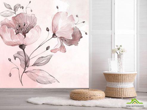 обои Цветы Фотообои Акварельный цветок