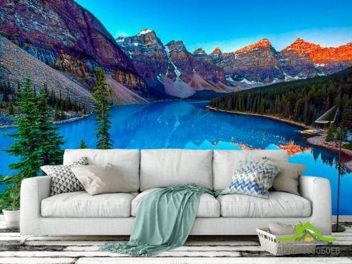 Горы Фотообои Горный уголок, озеро