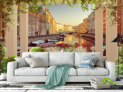 обои Фрески Фотообои Фреска канал в венеции