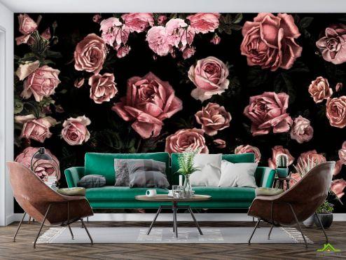Черные  Фотообои Розы