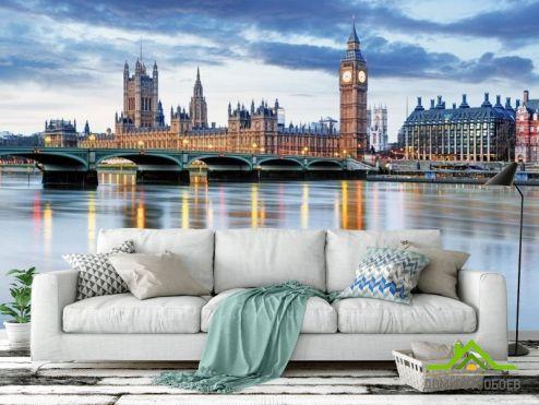 обои Лондон Фотообои Лондон сепия