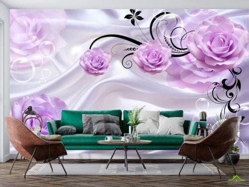 Фотообои разные по выгодной цене Фотообои 3д розы