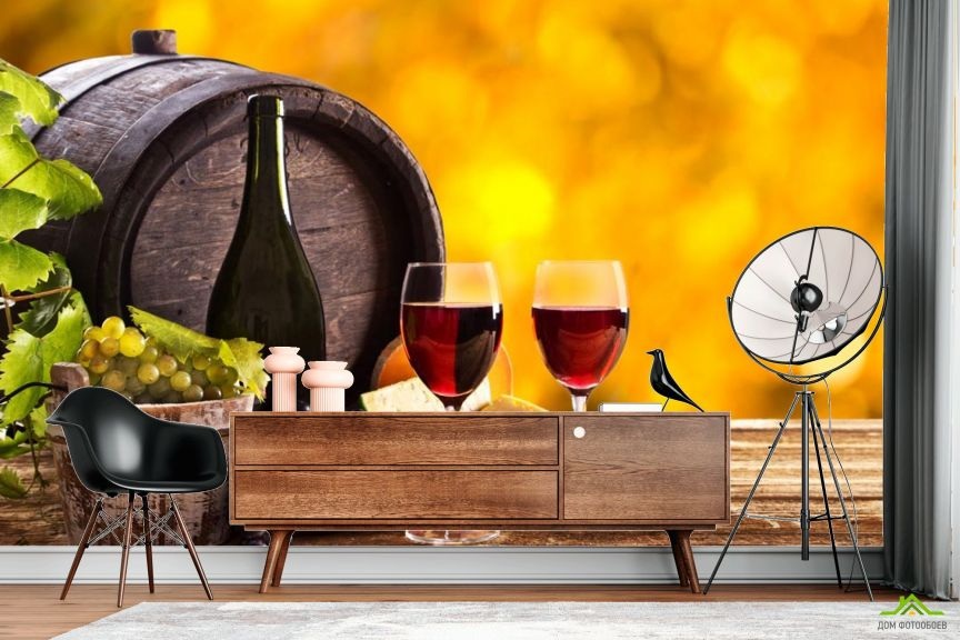 Фотообои вино в бочке