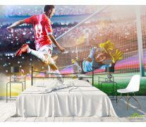 Фотообои футболисты у ворот