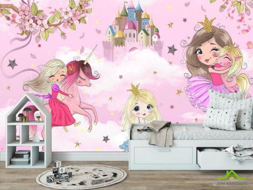 обои в детскую Фотообои Принцессы для девочки