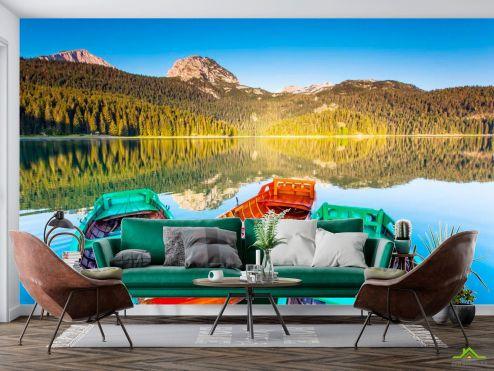 Природа Фотообои Три лодки