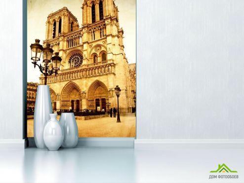обои Дворцы и соборы Фотообои Собор Парижской Богоматери в париже