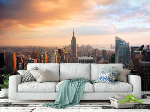 Нью Йорк Фотообои Город Нью-Йорк с высоты