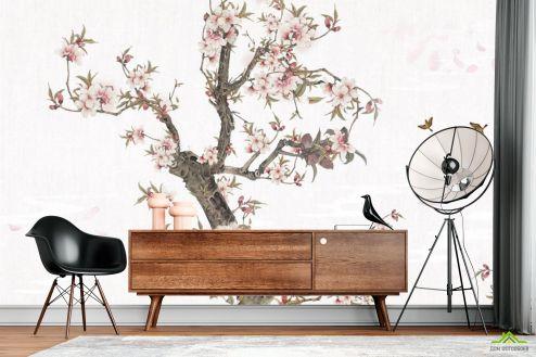 Восточный стиль Фотообои Ветка сакуры