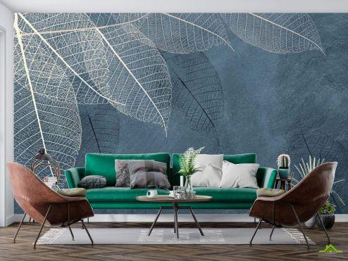 в скандинавском стиле Фотообои Листья с потолка