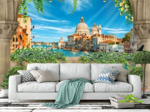 Фотообои Вид из окна по выгодной цене Фотообои Вид с балкона на Венецию