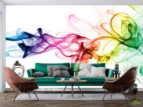 Абстракция Фотообои Разноцветный дым