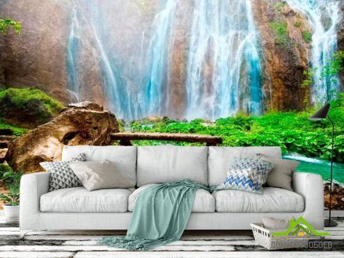 обои Водопад Фотообои Горное чудо