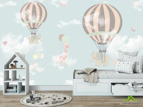 обои в детскую Фотообои Воздушные шары