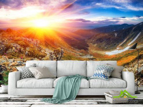 Природа Фотообои Восход в горах купить